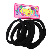 Load image into Gallery viewer, 5 Pack Black Elastic Rubber Hair Band 5156 (Large Letter Rate)