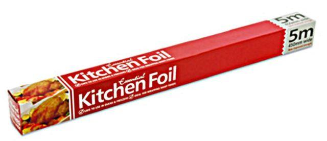 Essential Kitchen Foil Oven Freezer Safe Improved Strength 5m/450mm Wide FR4505 (Parcel Rate)