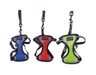 Small Size Dog Harness With Lease High Quality Straps Assorted Colour x 1 6034