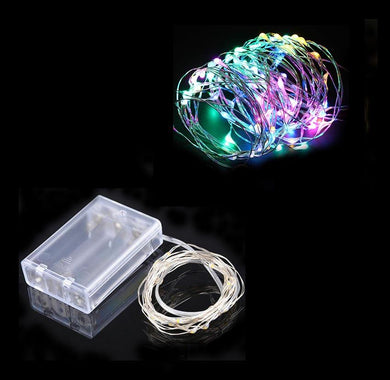 LED Lights Aluminum Wire Multi-Colour Micro 2 Settings Flashing Steady LED 5m 6112 (Large Letter Rate)