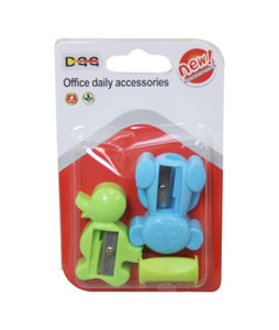Stationery Pencil Sharpener Assorted Shapes Mixed Colour 3 in Pack 6123 (Large Letter Rate)