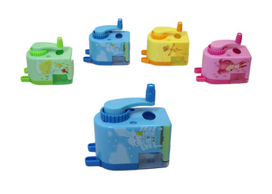 1 Piece Childrens Fun Cartoon Pencil Sharpener With Shavings Bin 8 x 8 x 6cm  6125 (Parcel Rate)