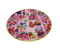 Tea Party Multicolour Dinner Server Tray Plastic Large Food Desserts Serving Plate 41cm 6142