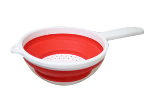 Silicone Plastic Kitchen Collapsible Colander Strainer 3 Colours 2 in 1 Strainer 6208 (Parcel Rate)