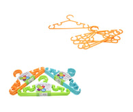 Childrens Toddlers Plastic Assorted Colour Wardrobe Hangers Easy Hanging Clothes 5 Pack  6224