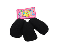 3 Pack Rubber Thick Stretchy Ladies Hair Bubble Band Ponytail Holder Black x 3 6236