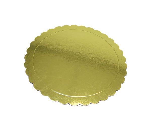 Gold Cardboard Lightweight Cake Desserts Board Party Metallic Gold Plate 2 Pack 35cm 6272