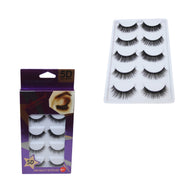 5 Pack False Eyelashes Thick Long Lashes Party Wear Black Adjustable Fake Lashes 6281