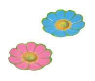 Plastic Floral Serving Eating Tray Pink/ Blue KItchen Food Plate Sunflower Design 30cm 6309