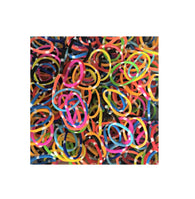 Loom Rubber Bands Dot Style Assorted Colour Hair Bracelet Bands Girls Boys 500 Pack 6319