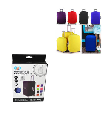 (S)Travel Suitcase Luggage Cover Protector Elastic Stretchy Cover Assorted Colours 49x33x21cm 6533 (Parcel Rate)