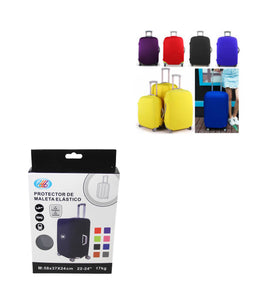 (M)Travel Suitcase Luggage Cover Protector Elastic Stretchy Cover Assorted Colours 58x37x24cm 6534 (Parcel Rate)