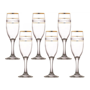 Set Of 6 Sultan Misket Glasses 190cc  6 1/2oz Home Kitchen Glassware (Parcel Rate)