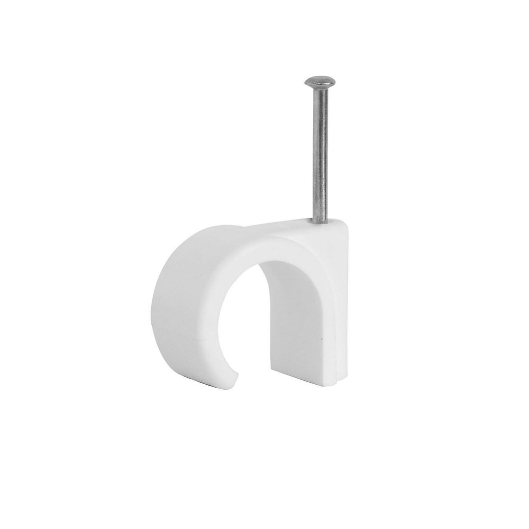 12mm Cable Clips White 3851 (Large Letter Rate)