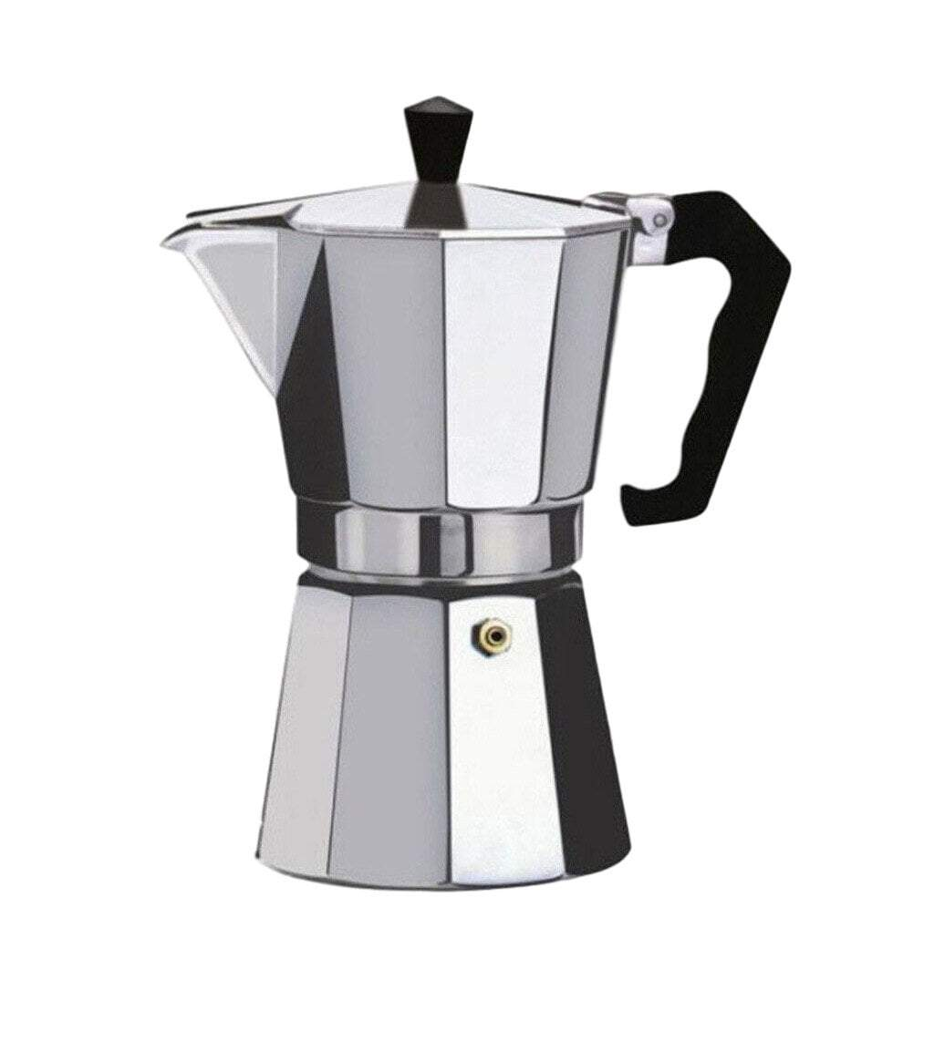 12 Cups Octagonal Aluminum Mocha Coffee Maker Pot With Handle  (600ml) 8984 (Parcel Rate)