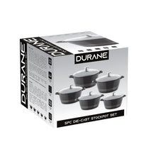 Load image into Gallery viewer, Durane Die Cast Stock Pot Set Of 5 Stainless Steel Non Stick Coating And Handle 9317 (Big Parcel Rate)