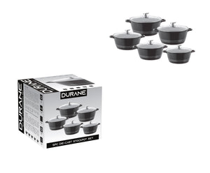 Durane Die Cast Stock Pot Set Of 5 Stainless Steel Non Stick Coating And Handle 9317 (Big Parcel Rate)