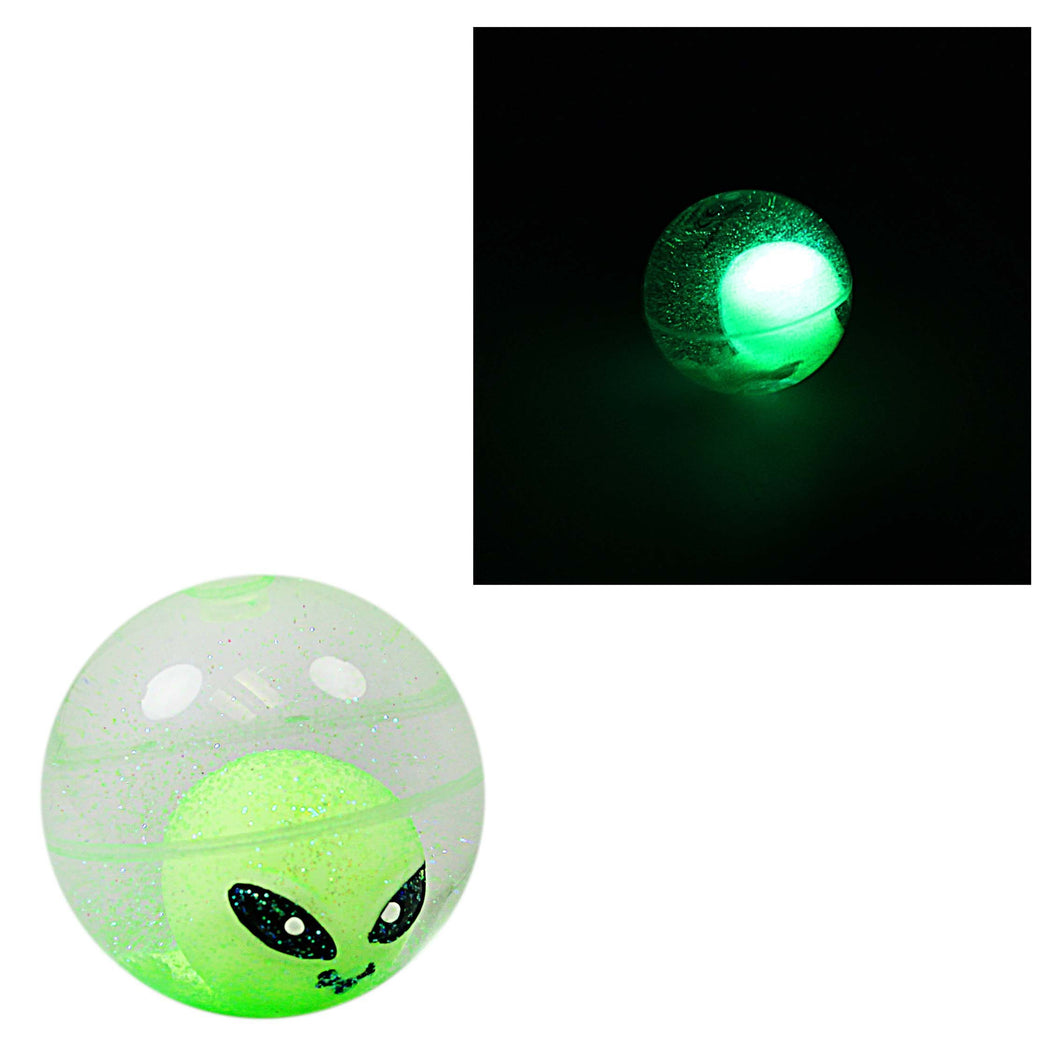 Alien Invasion Flashing Baby Alien Blinkers Bounce Ball Light Up 1373695 (Parcel Rate)