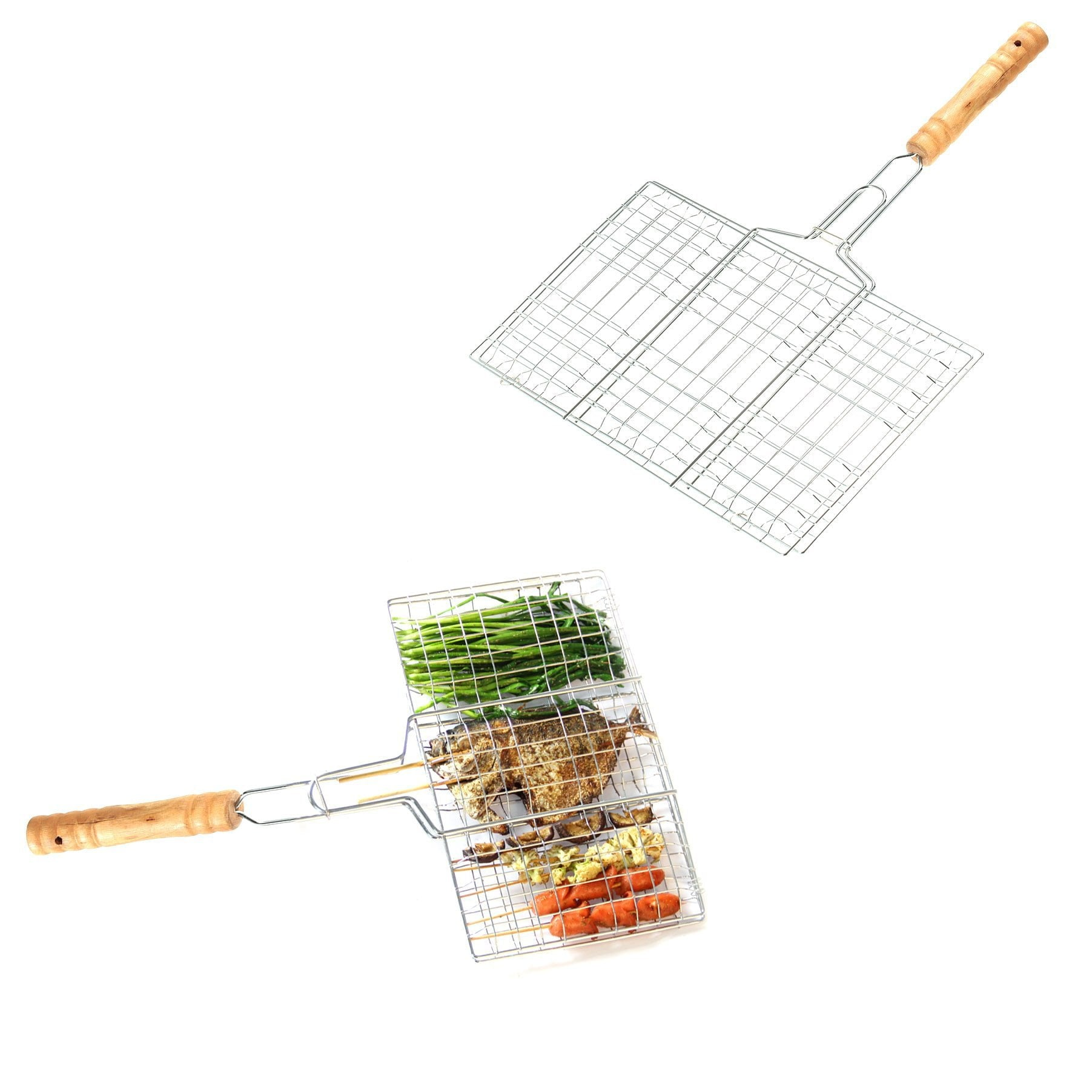 BBQ  Fish Grill Grid Basket Outdoor Cooking Roast Tool Grilling Fish