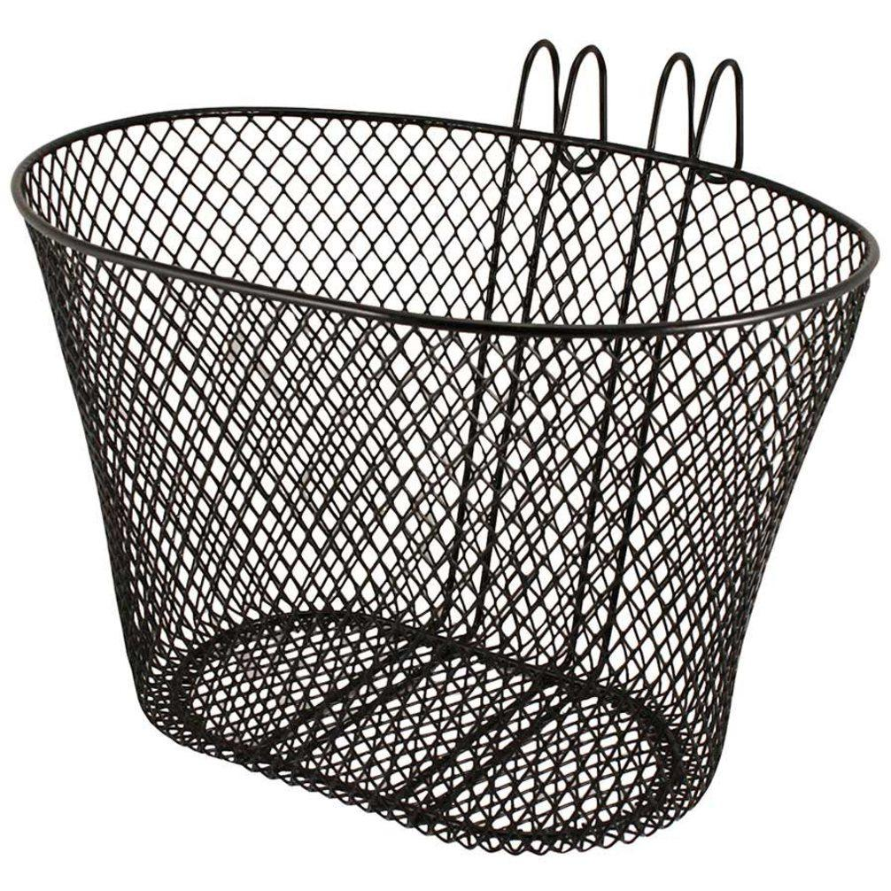 Bicycle Mesh Hang On Basket Quick Release Shopping Basket Black 32cm x 24cm 1992 (Parcel Rate)