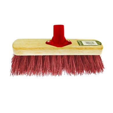12'' Kingswood PVC Red Socket Bristle Brush Head 1056 (Parcel Rate)