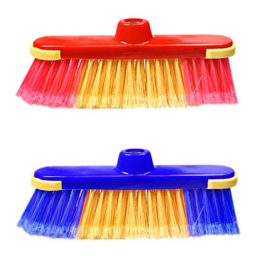 1 Cleaning Brush Broom Includes Handle Plastic Bristles 2 Colour Red Blue Home Outdoors Diy 1079 (Parcel Rate)