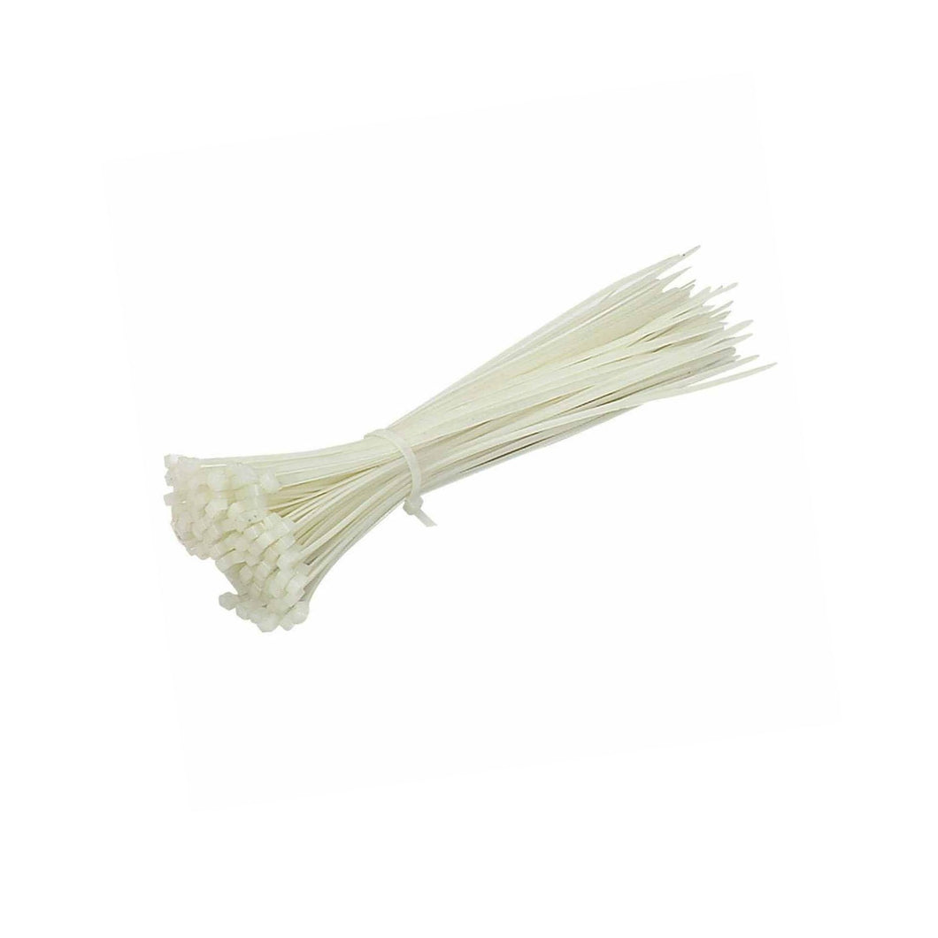 8 x 400m White Cable Ties Nylon Pack of 20 0580 (Large Letter Rate)
