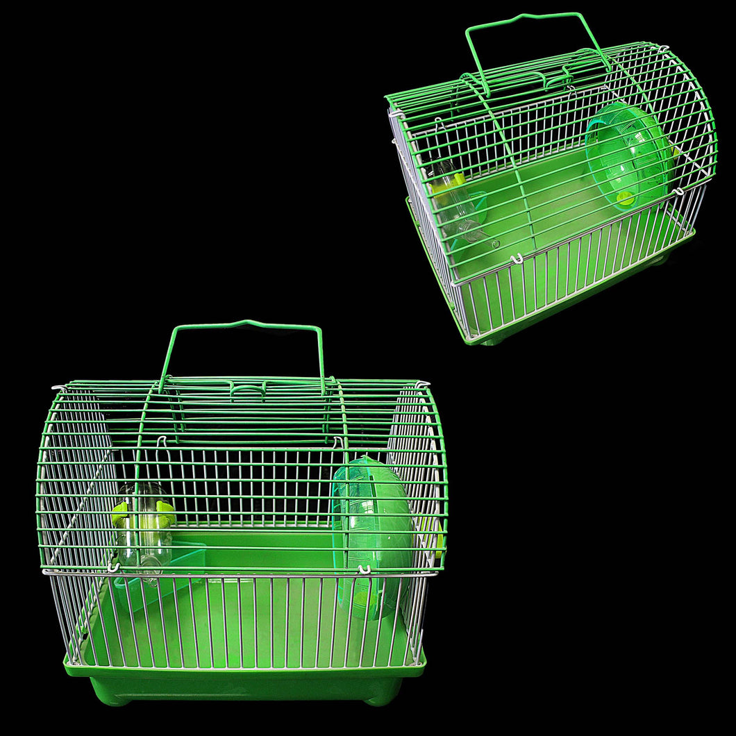 Indoor Small Pet Mouse Cage Plastic Cage With Handle 22cm x 17cm  0081 (Parcel Rate)