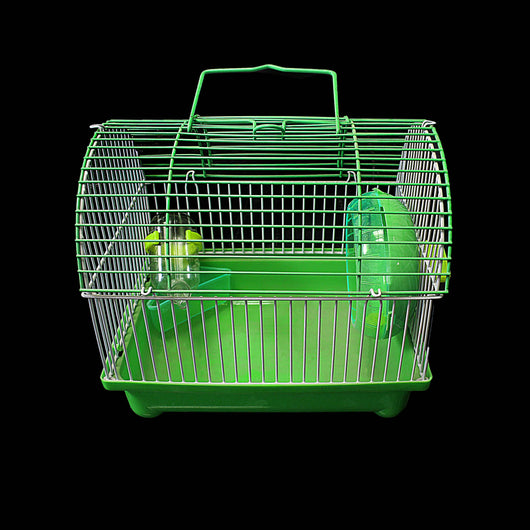 Bird Cage Indoor Pet Mouse Cage Plastic Playing Pets Cage With Handle 22 x  17cm 0081