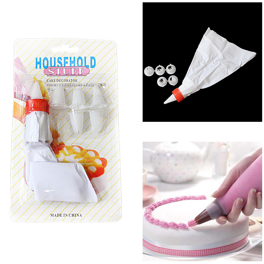 Household Stuff Cake Decorator Icing Bag With Nozzles 4664 (Large Letter Rate)