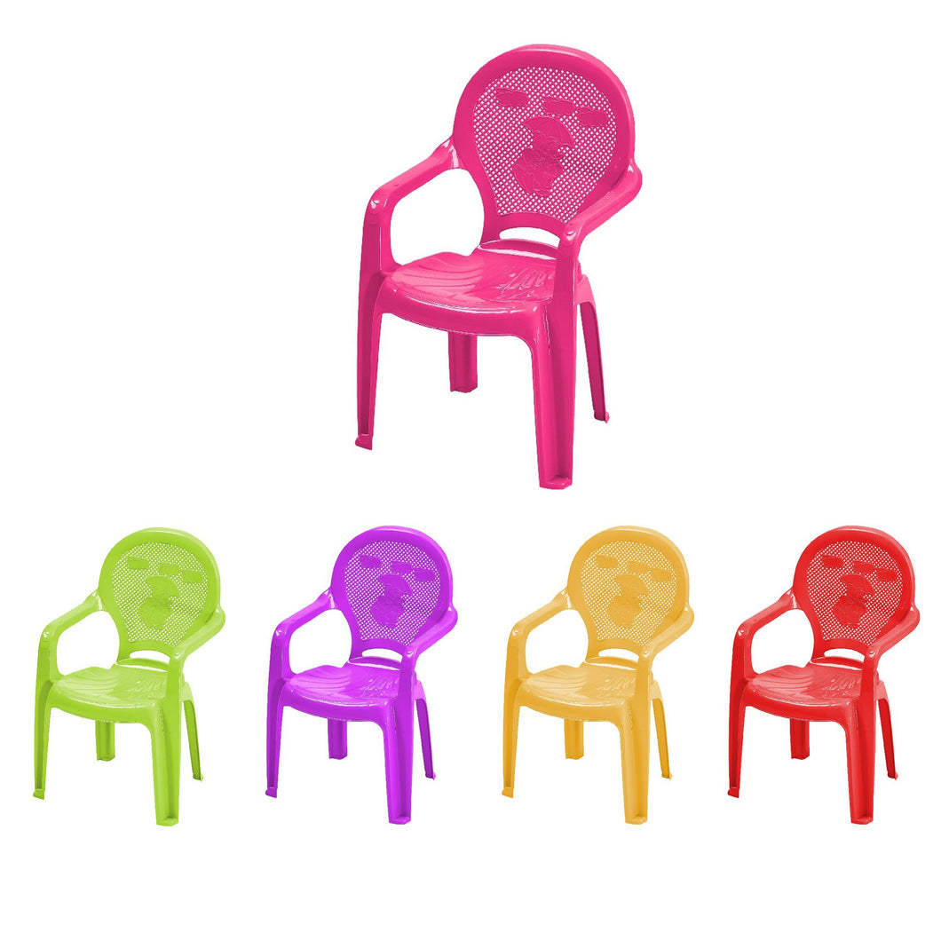 Childrens Plastic Chairs Assorted Colours Nursery School Indoor Chairs CT030 (Big Parcel Rate)