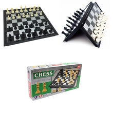 Load image into Gallery viewer, High Class Chess Set Ivory Black 36 Pieces Magnetic Board Small 19.3 x 19.3cm 3834 (Parcel Rate)