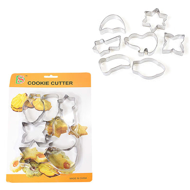 Novelty Cookie Cutter Set Pack Of 7 Kitchen Baking 2784 (Large Letter Rate)