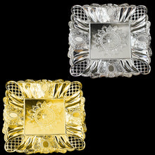 Load image into Gallery viewer, Beautiful Fancy Designer Serving Tray Silver Gold 28cm Home 2753 (Parcel Rate)