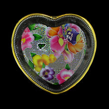 Load image into Gallery viewer, Designer Tray Heart Shape Flower Design 0732 (Parcel Rate)