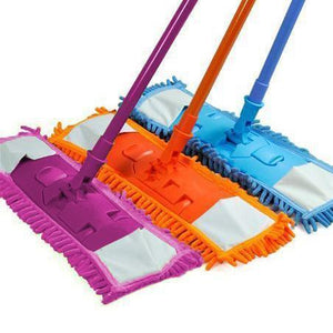 Microfibre Folding Adjustable 360 Plastic Mop With Handle In Assorted Colours   2045 (Parcel Rate)