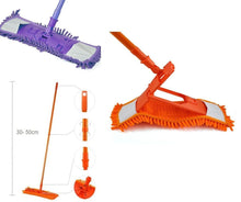 Load image into Gallery viewer, Microfibre Folding Adjustable 360 Plastic Mop With Handle In Assorted Colours   2045 (Parcel Rate)