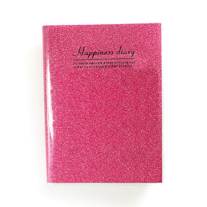 A5 Sparkling Cover Happiness Diary Daily Memories Book Assorted Colours 3259 (Large Letter Rate)