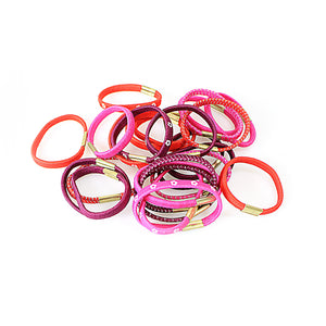 Girls Ladies Fancy Dress Up Hair Bobbles Hair Styling Band Assorted Colours 24 Pack  0979 (Large Letter Rate)
