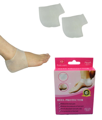 1 Pair Silicone Gel Heel Protector Plantar Fasciitis Pain Relief Cushion Unisex 5502 (Parcel Rate)