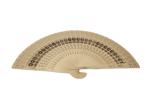 Wooden Hand Mini Fan Ladies Traditional Chinese Waving Fan 35cm 6506 (Large Letter Rate)