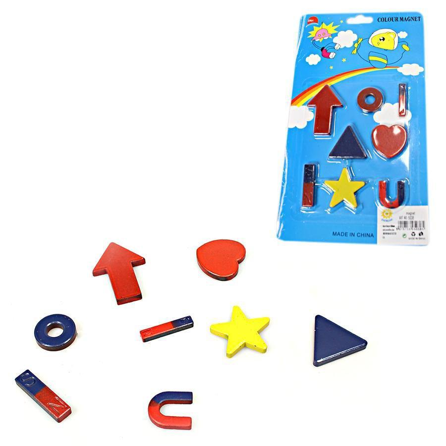 8 Pack Childrens Kids Playing Colour Magnets Assorted Shapes 5038 (Large Letter Rate)