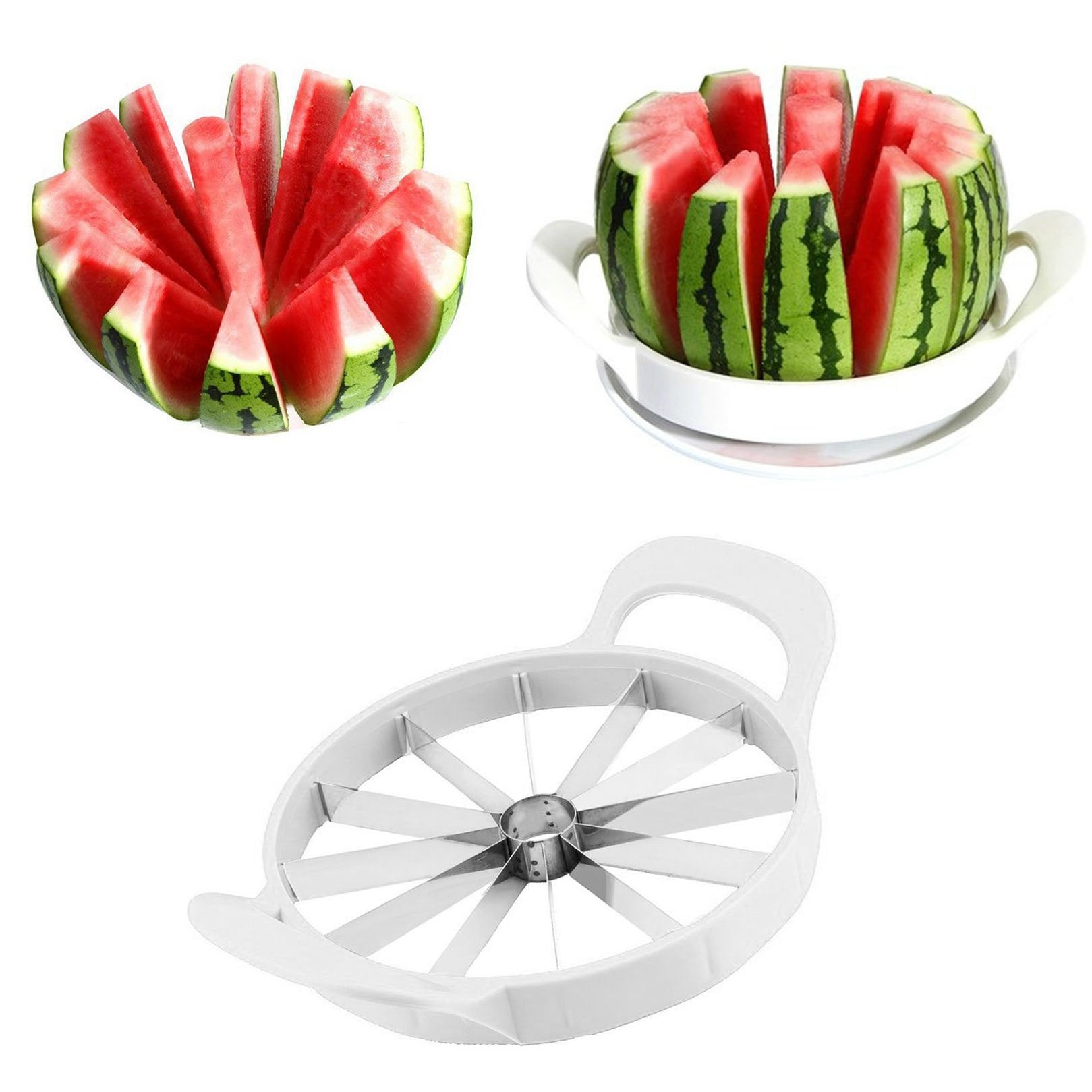 Watermelon Melon Fruit Slicer Cantaloupe Divider Kitchen Tool Stainless Cutter