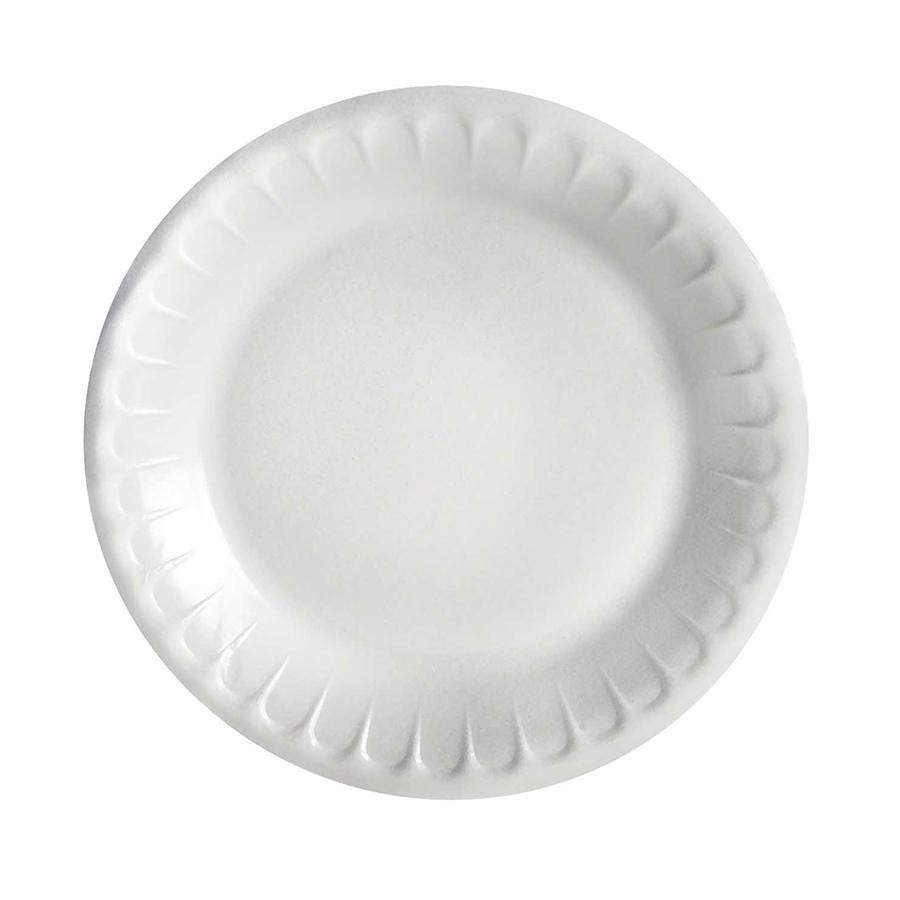 50 Pack Large Polystyrene Disposable Party Special Occasion Plates cd632 (Parcel Rate)