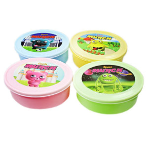 Childrens Round School Pack Lunch Boxes In Assorted Cartoon Styles And Colours MCC6007 (Parcel Rate)