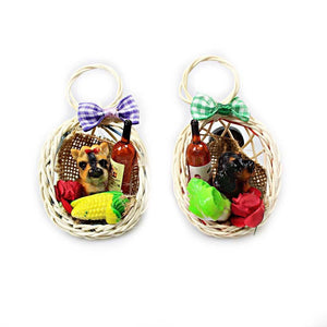 Fridge Freezer Magnet Dog Basket Fancy 2 Styles 5073 (Large Letter Rate)