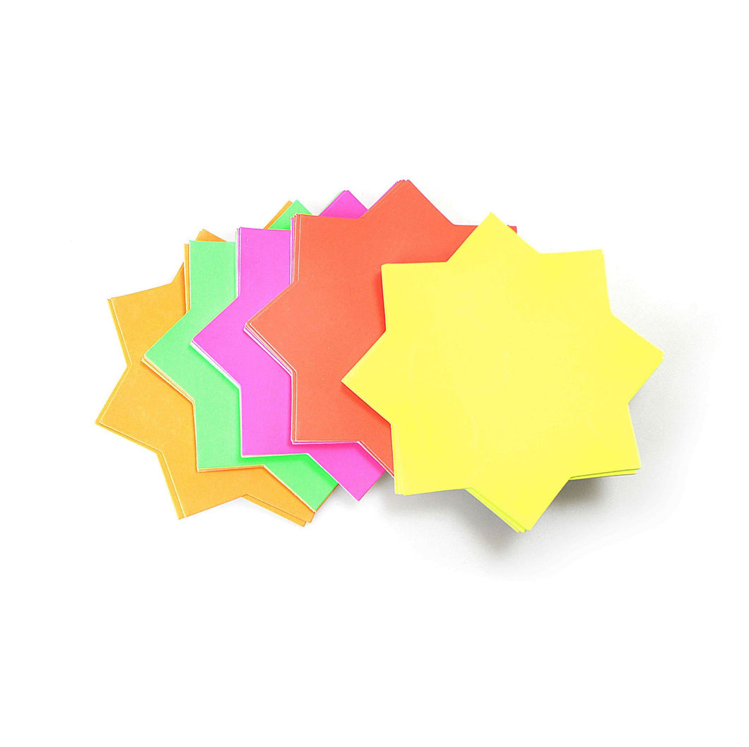 Medium Neon Stars Various Colours P2045 (Large Letter Rate)