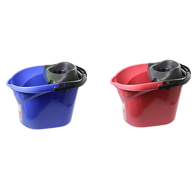 Mop Bucket Plastic Kitchen Bathroom Household Use 13 Litre x 1  H1186 (Parcel Rate)