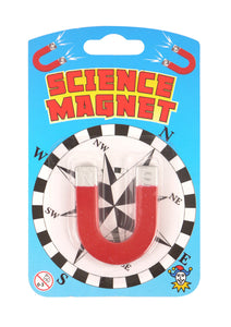 Childrens Novelty Fun Science Magnetic Horse Shoe With Compass N01867 (Parcel Rate)