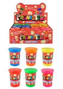 Kids Jokes And Pranks Putty Noise Tub In 6 Assorted Neon Colours 7.5 x 5.5cm (Parcel Rate)
